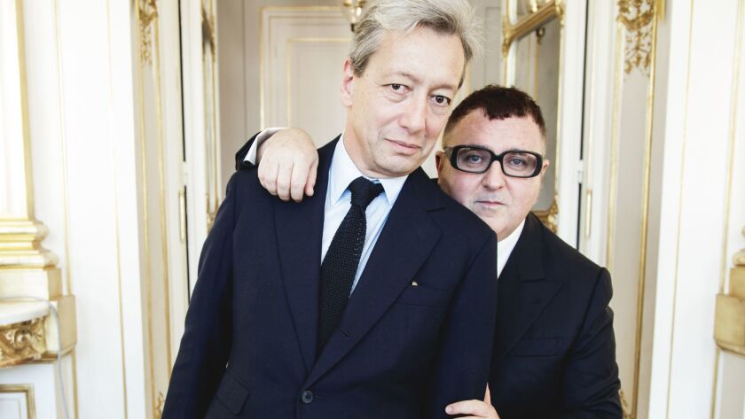 Perfumer Frédéric Malle, left, is collaborating with fashion designer Alber Elbaz on a new fragrance that debuts in April.