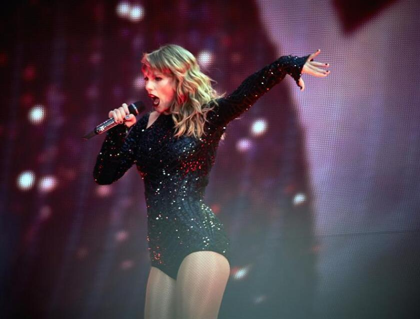 US singer Taylor Swift performs during her concert at Wembley Stadium in London, Britain. EFE/EPA/FILE