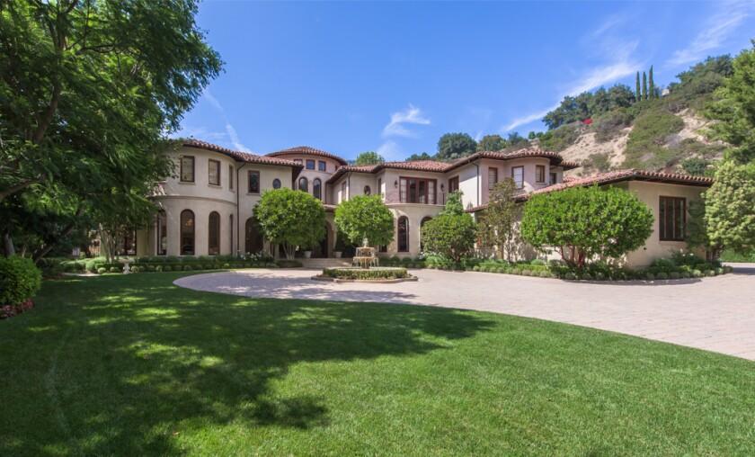 A gated Mediterranean villa in Beverly Park