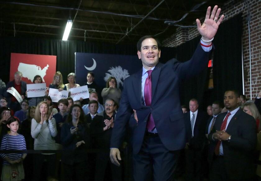 Marco Rubio campaigns in Greeneville, S.C.