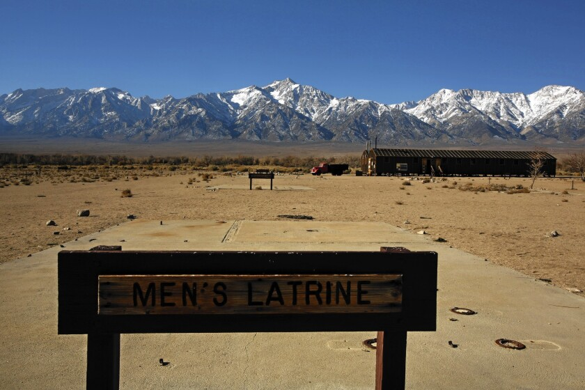 A view of Manzanar National Historic Site. Los Angeles is moving ahead with plans to build a solar energy plant near this isolated spot in the eastern Sierra that was the site of a Japanese American internment camp during World War II.
