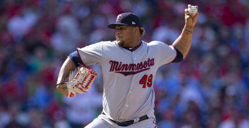 Twins pitcher Adalberto Mejia delivers against the Philadelphia Phillies
