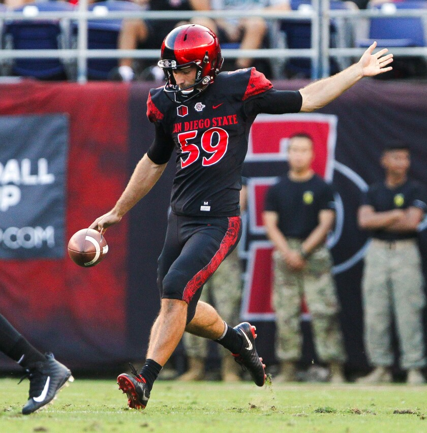 San Diego State punter Brandon Heicklen has landed 12 of his past 15 punts inside the 20-yard line, seven inside the 10 and four inside the 5.