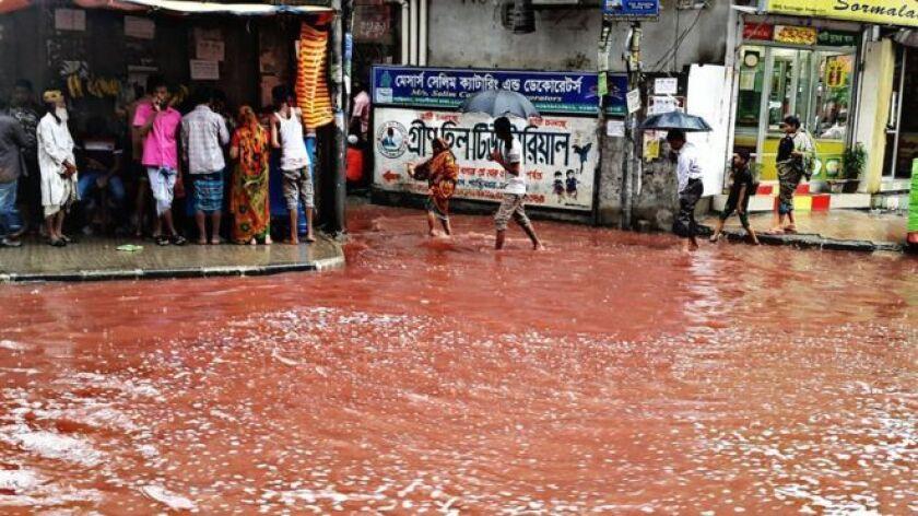 """El suburbio de Shantinagar se vio particularmente afectado por los """"ríos de sangre"""" en Daca."""