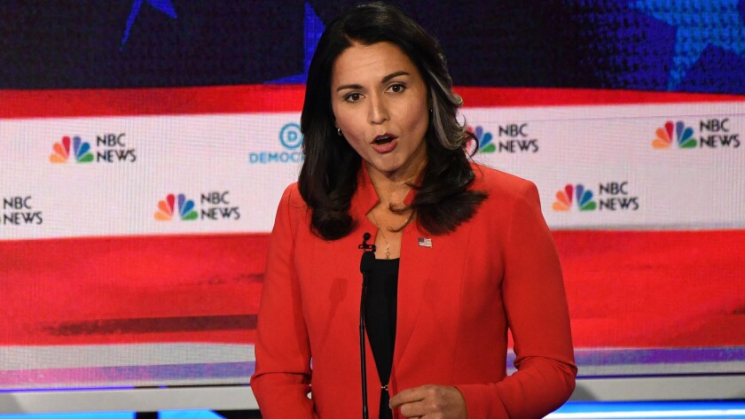 Image result for Tulsi Gabbard to seek the presidential nomination of a major party