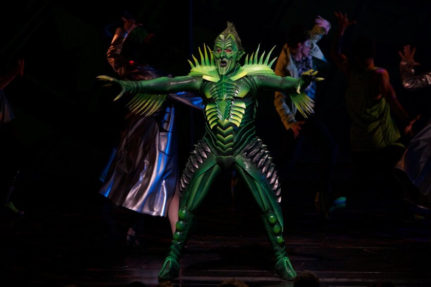 "Patrick Page in Broadway's ""Spider-Man: Turn Off the Dark."""