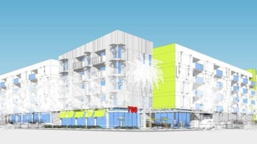 Rendering of Vista del Mar project on corner of 3rd Avenue and K Street in Chula Vista