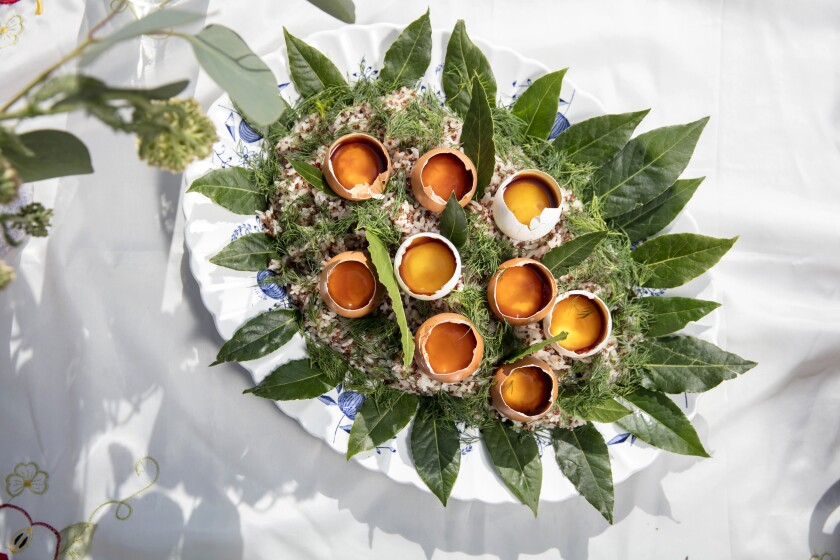Hammam Bay Leaf Rice With Soy-Cured Egg Yolks