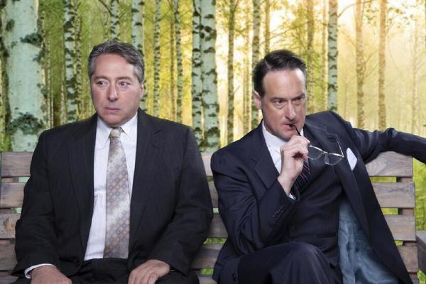 David Ellenstein and J. Todd Adams are the nuclear arms negotiators in North Coast Repertory Theatre's 'A Walk in the Woods,' May 29-June 23, 2019 in Solana Beach.