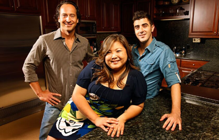 SEASON 5 GETS COOKING: L.A. is well-represented this time around with contestants Jeffrey Saad, left, Debbie Lee and Eddie Gilbert in the mix.