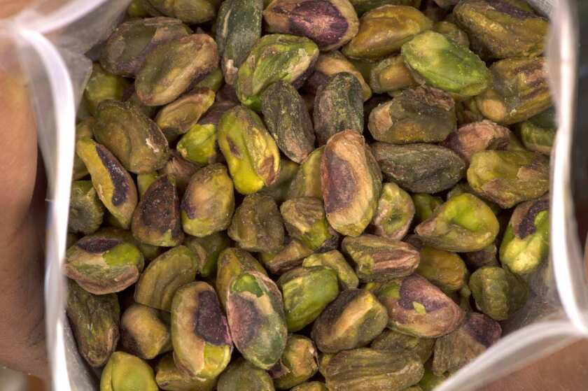 Pistachios, ready for the taking.