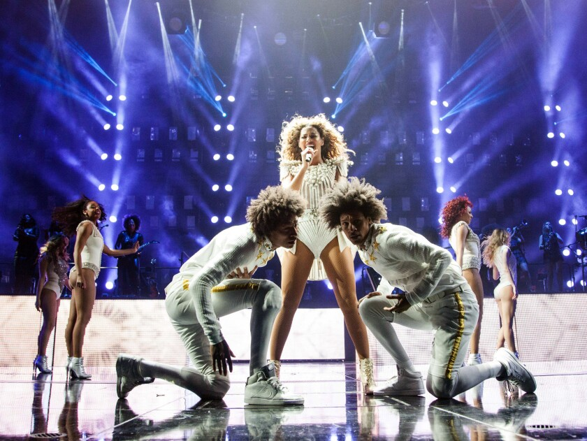 Beyonce performs at the Barclays Center in Brooklyn. A bill sent to California Gov. Jerry Brown would make it easier for average customers to get tickets to shows.