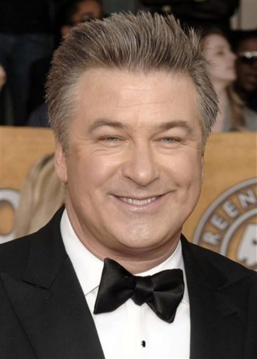 FILE - In this Jan. 25, 2009, file photo Alec Baldwin arrives at the 15th Annual Screen Actors Guild Awards in Los Angeles. (AP Photo/Chris Pizzello, file)