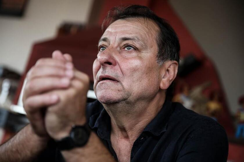 Photo taken in 2017 of Italian former guerrilla Cesare Battisti, who was convicted in his homeland of murder and has been living in Brazil since 2004, is being tracked down by Brazilian authorities who consider him a fugitive from justice; his whereabouts are still unknown. EFE-EPA/Fernando Bizerra Jr/File