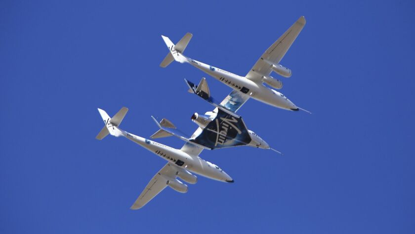 Virgin Galactic reaches Space during its 5th powered flight from Mojave, CA.
