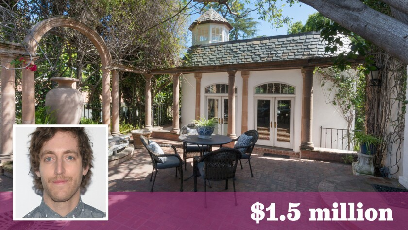"""""""Silicon Valley"""" actor Thomas Middleditch has bought a Hollywood Hills home once owned by famed art director Charles Lisanby."""