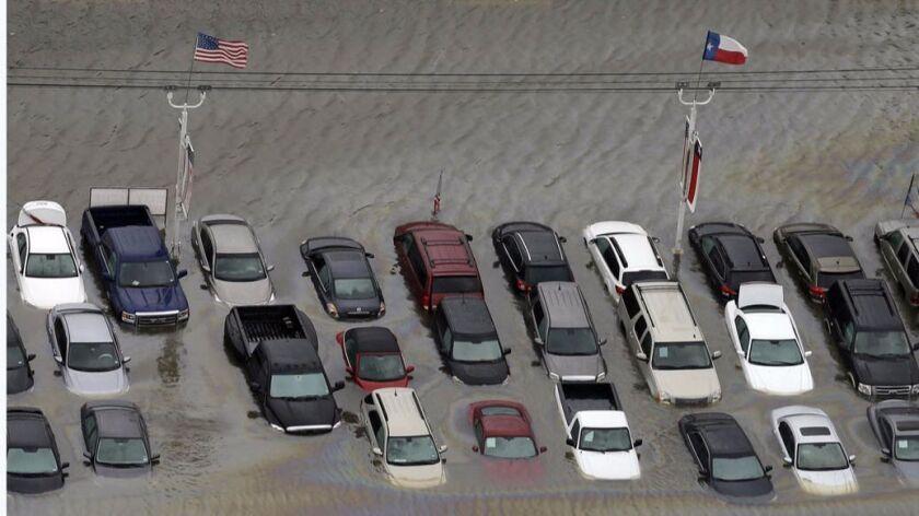 A dealer lot in Houston.