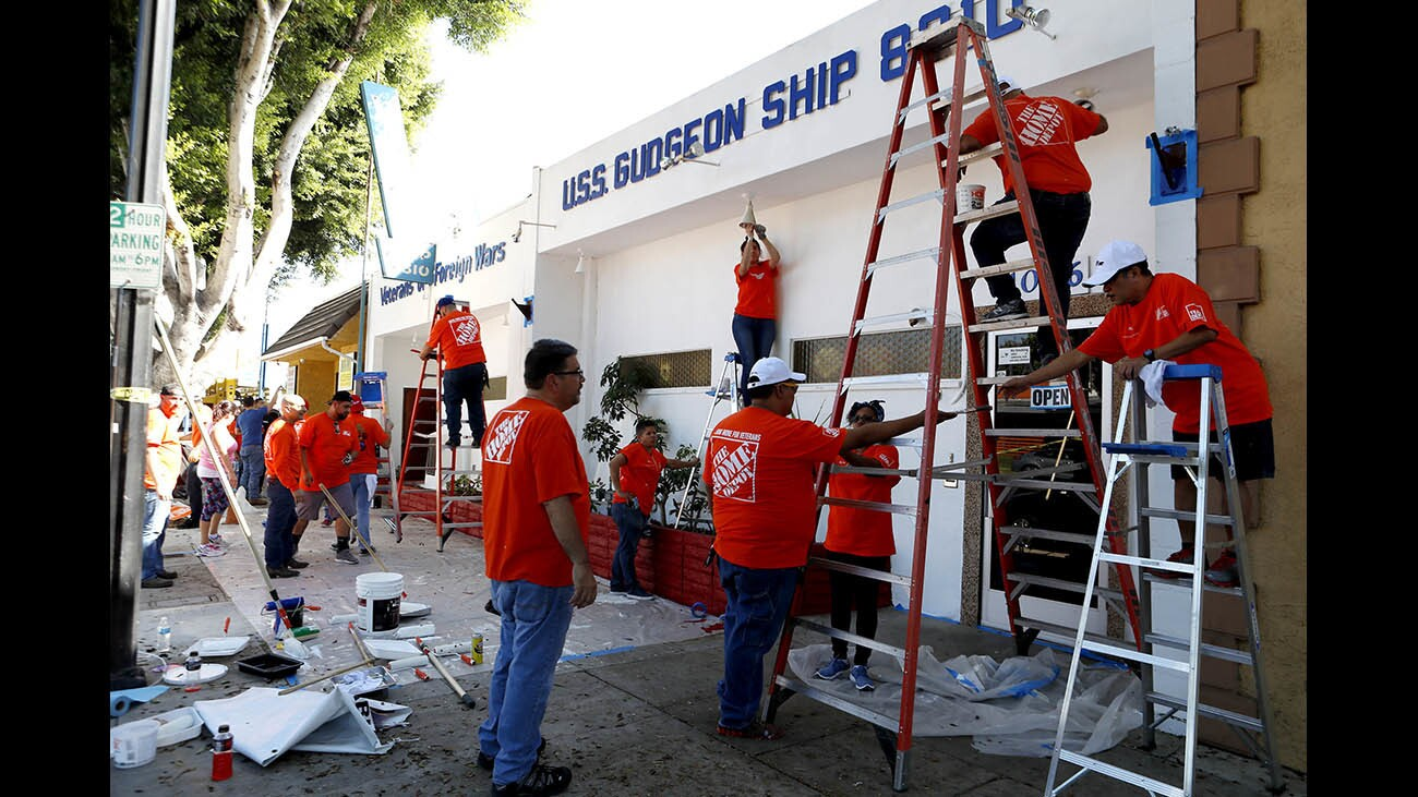 Photo Gallery: Home Depot District 26 employees worked an entire day to spruce up the Burbank VFW Ship 8310
