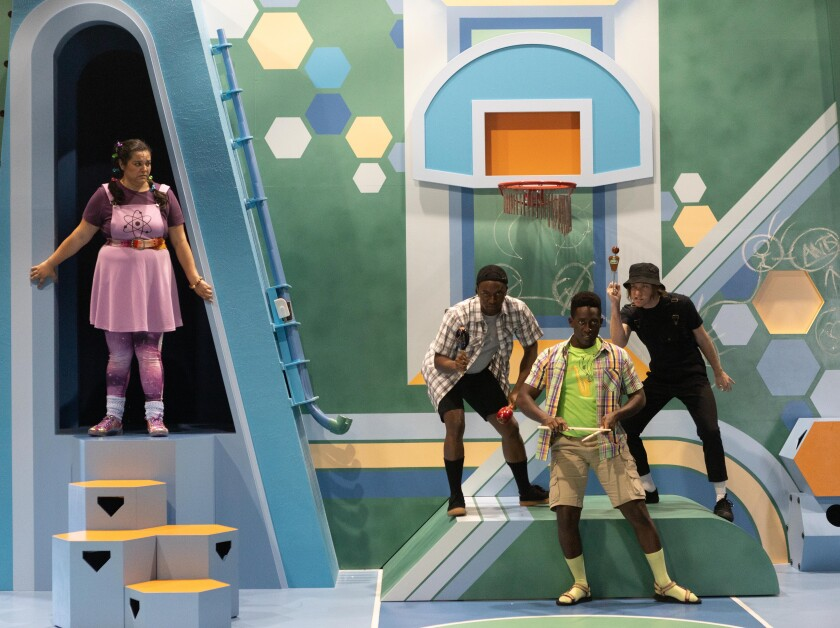 "A scene from La Jolla Playhouse's 2021 POP Tour show ""Pick Me Last."""