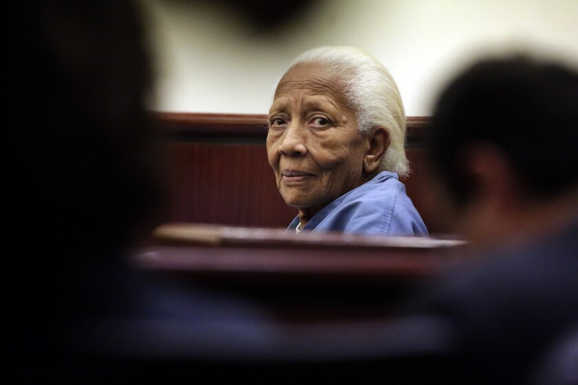 Doris Payne, then 83, at a 2013 court appearance in Riverside County.