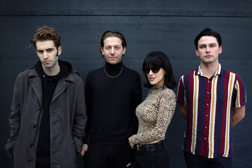 LOS ANGELES, CA-MARCH 20, 2019: Jesse Perlman, Josh Conway, María, and Edward James, left to right,