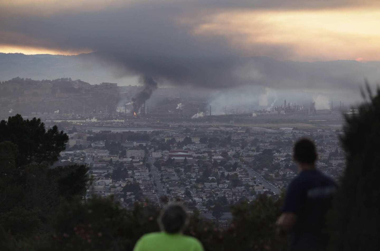 Richmond refinery fire -- observers