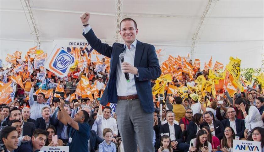 Ricardo Anaya, candidato presidencial a las elecciones mexicanas. EFE/Archivo