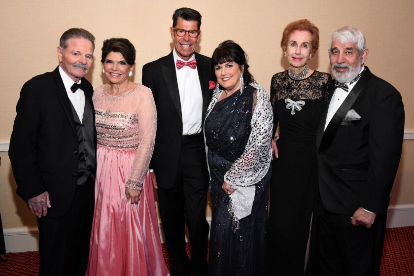 Joseph and Phylicia Aiken (she's 2018 ball chair), Marc and Nancie Geller (she's 2018 ball co-chair), Darlene Davies and Paul Marshall
