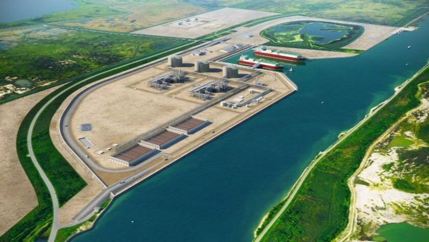 Site of proposed Port Arthur LNG facility on the Texas Gulf Coast