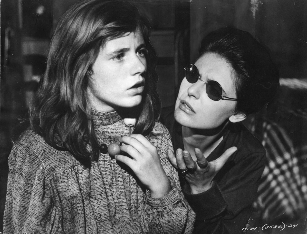 """Patty Duke, left, as young Helen Keller, with Anne Bancroft as Annie Sullivan in 1962's """"The Miracle Worker."""""""