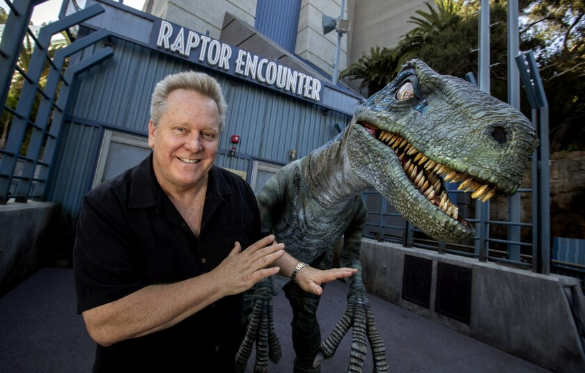 Did Universal's Jurassic World ride scare you? Thank this guy