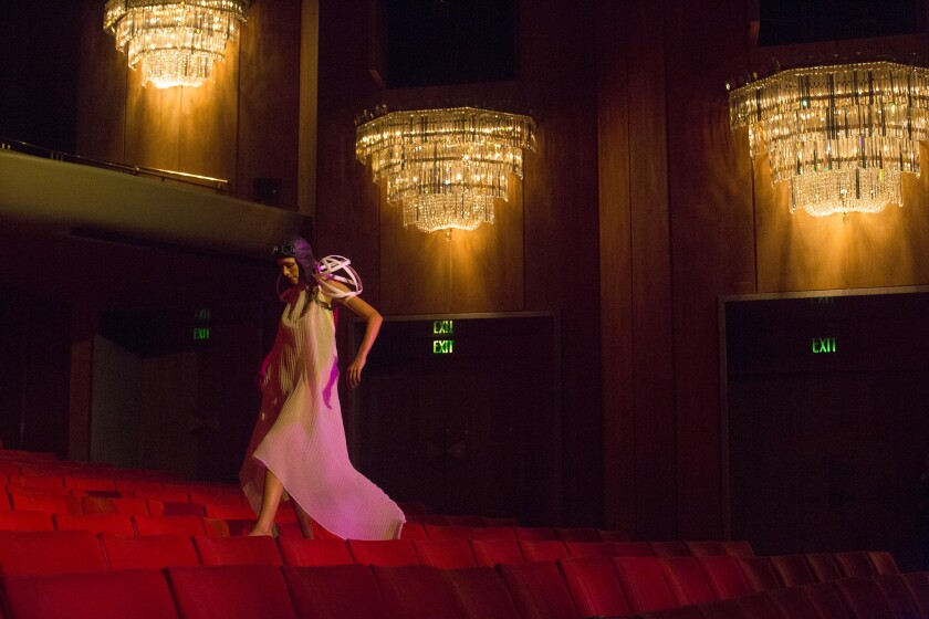 A performance by Invertigo Dance Theatre at the Dorothy Chandler Pavilion in August.