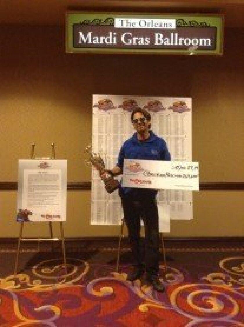 Christian Hellmers taken in Las Vegas following his win. Courtesy photo