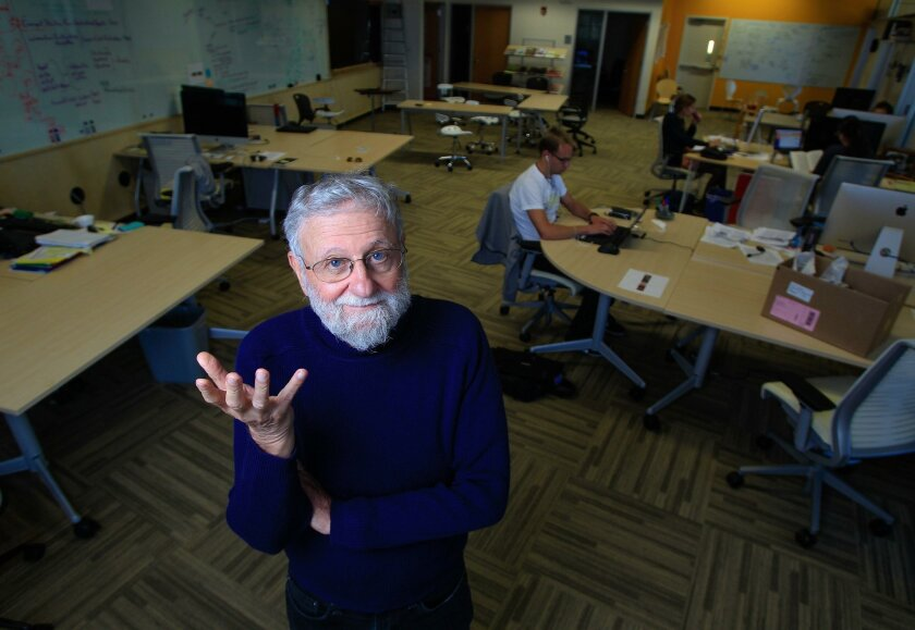 Renowned engineer Don Norman at the UC San Diego Design Lab.