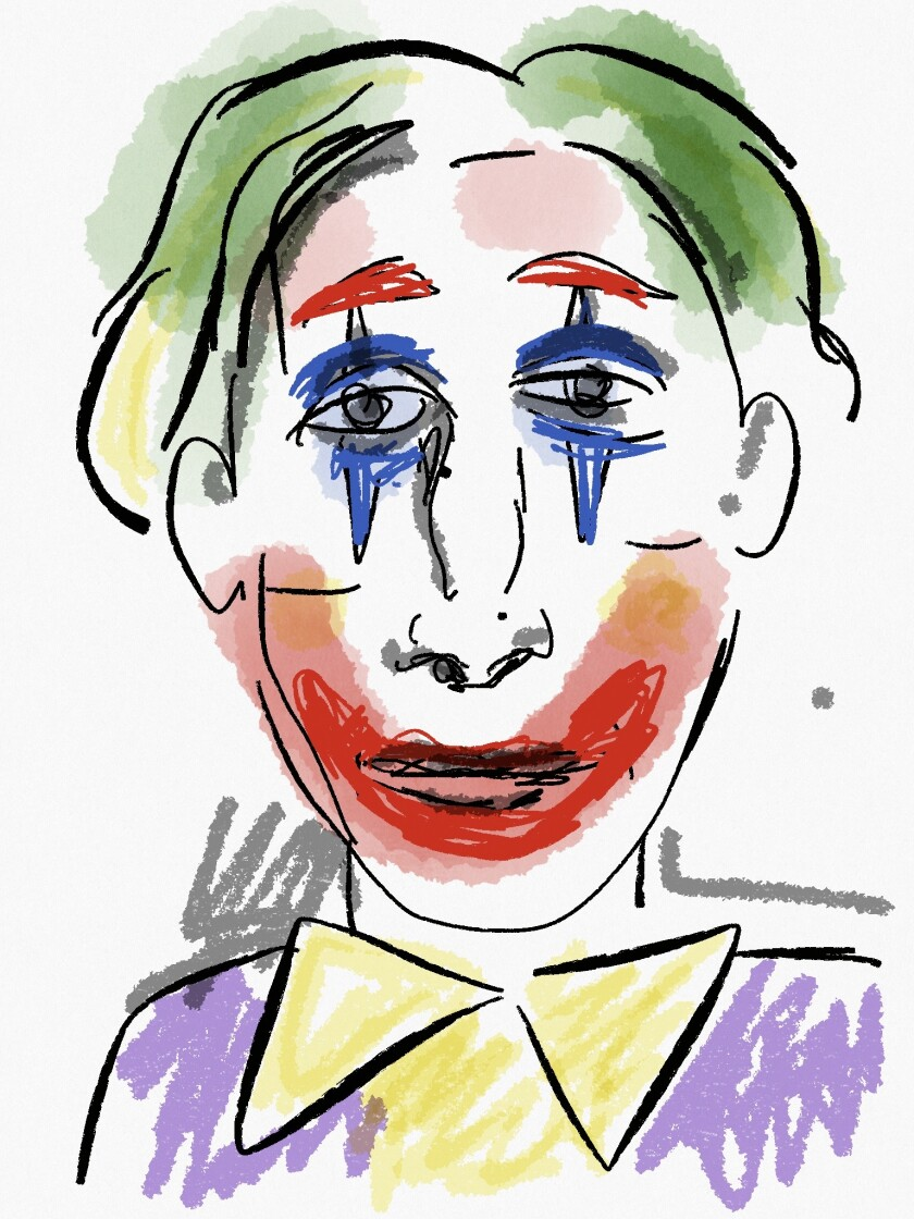 "As part of playwright Herbert Siguenza's daily ""Lunch Breaks"" sessions, he talks about his lunch and then delves into a variety of topics, including his life as a visual artist. During a recent session, drawings were inspired by the film ""Joker."""
