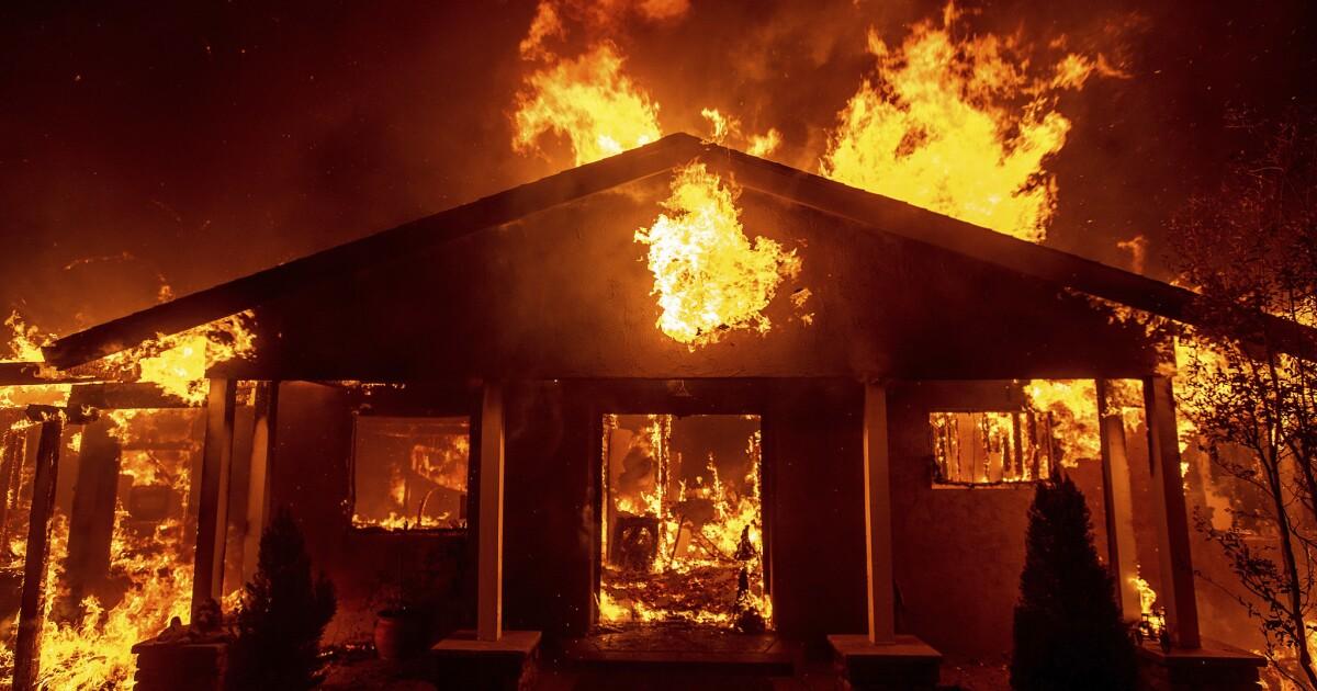 home ablaze