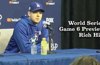 Rich Hill talks about Game 6 of the World Series