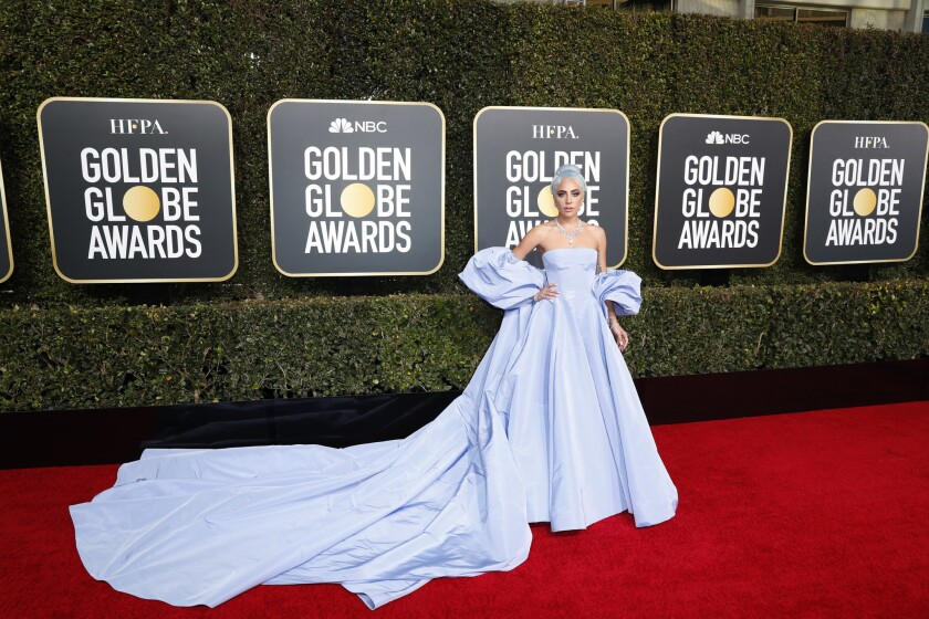 BEVERLY HILLS, CA-JANUARY 06: Lady Gaga arriving at the 76th Golden Globes at the Beverly Hilton Hot