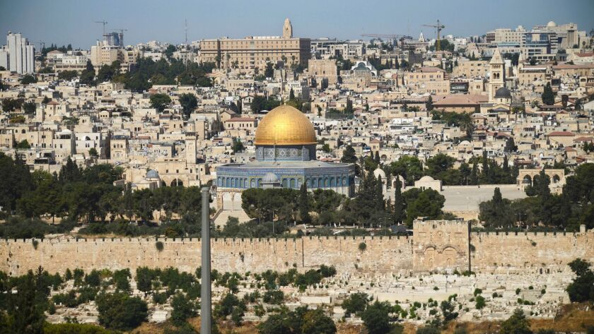 FILE - The Dome of the Rock Mosque in the Al Aqsa Mosque compound is seen in Jerusalem's Old City Sa