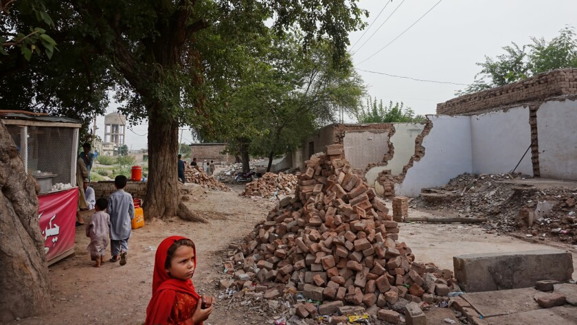 Shops demolished near Jamrud, in the tribal areas, under the collective punishment law. The shop ow