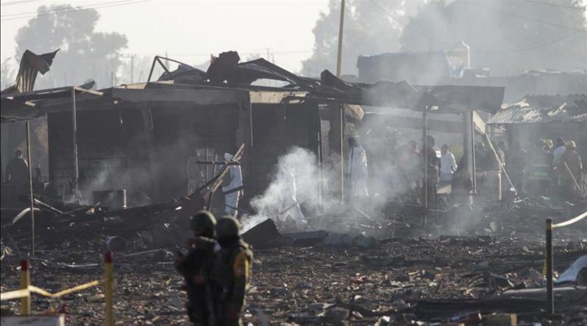 Al menos 12 personas han muerto en una explosión ocurrida en un polvorín del municipio de Tultepec, informó hoy el gobernador del céntrico Estado de México, Alfredo del Mazo. EFE/Archivo