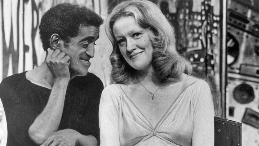 """Marian Mercer with Sammy Davis Jr. in """"Stop the World I Want to Get Off."""""""