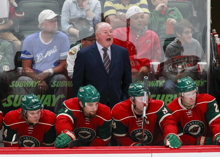 Head coach Bruce Boudreau has been fired by the Minnesota Wild.  Assistant Dean Evason was named interim coach.