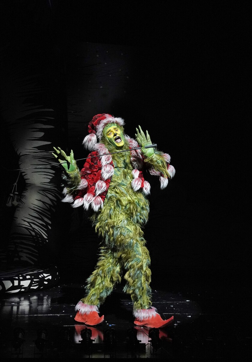 """Edward Watts returns for a third year to lead the holiday favorite """"Dr. Seuss's How the Grinch Stole Christmas!"""" at the Old Globe Theatre."""