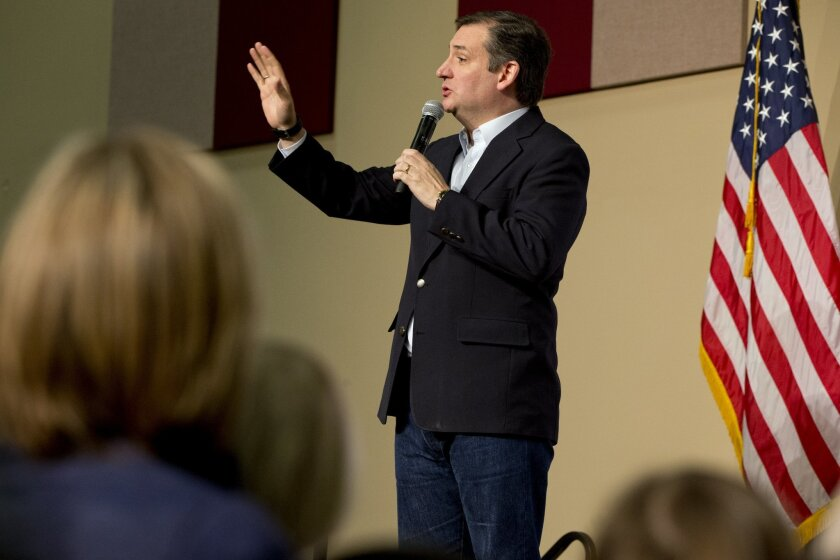Republican presidential candidate Sen. Ted Cruz, R-Texas, speaks at a rally at the Southeastern Institute of Manufacturing & Technology in Florence, S.C., Monday Feb. 15, 2016. (AP Photo/Jacquelyn Martin)