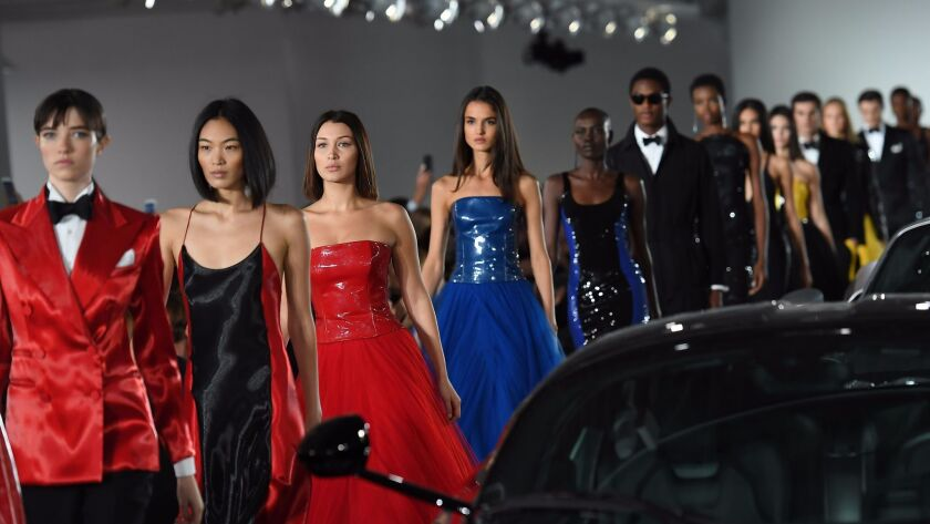 The finale of the Ralph Lauren Collection runway show presented Tuesday in Bedford, N.Y.