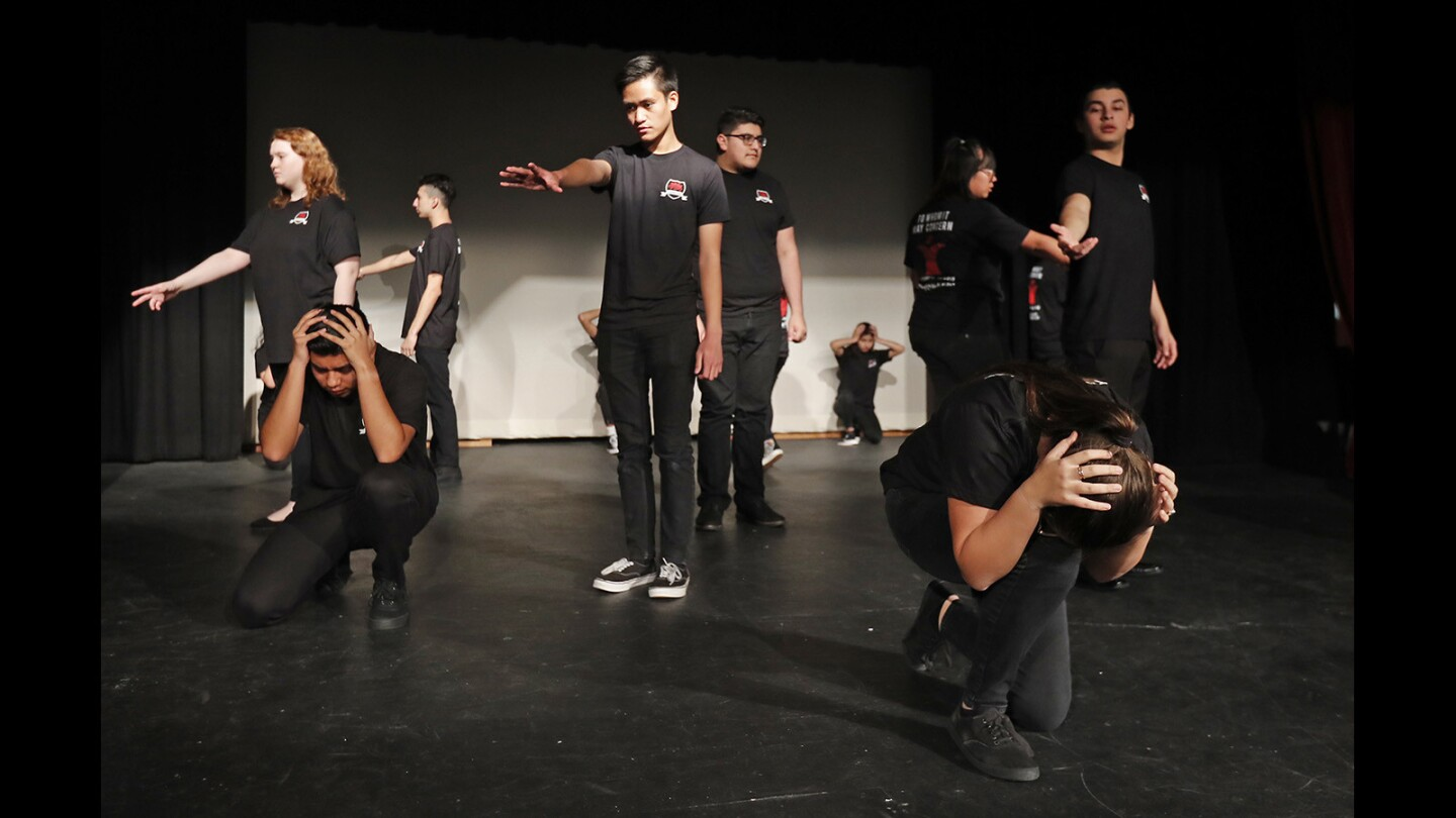 Photo Gallery: Estancia High School drama department rehearse To Whom It May Concern