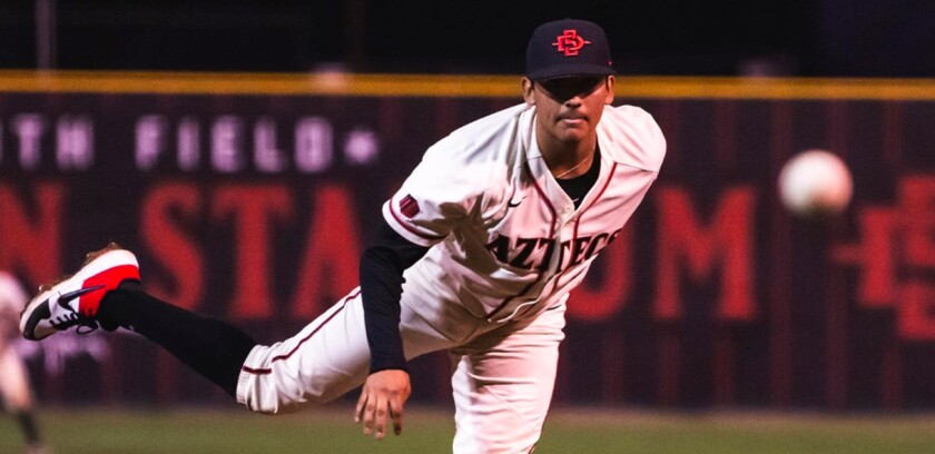 San Diego State right-hander Adrian Mardueno allowed back-to-back-to-back home runs to Nevada in the fifth inning of Friday's Mountain West Tournament loss.