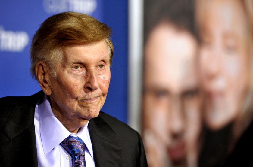 Sumner Redstone at a premiere in 2012.
