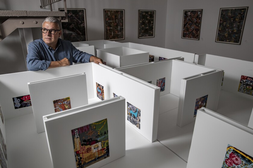 Lari Pittman in his studio